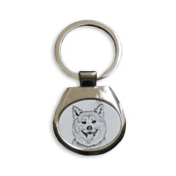 collection of keyrings with images of purebred dogs, unique gift, sublimation