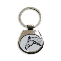 American Quarter Horse - collection of keyrings with images of purebred horses, unique gift, sublimation