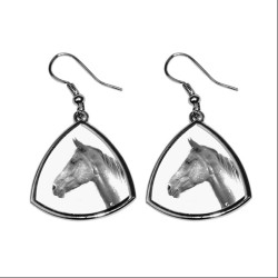 Collection of earrings with images of purebred horses, unique gift