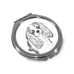 Akita - Espejo de bolsillo con una imagen de perro.