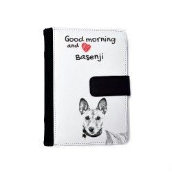 Notebook with the calendar of eco-leather with an image of a dog.