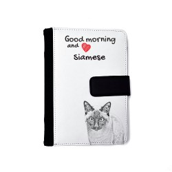 Persian cat - Notebook with the calendar of eco-leather with an image of a cat