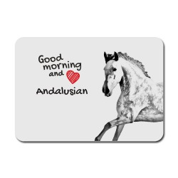 A mouse pad with the image of a horse.