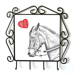 collection of hangers with images of purebred horse, unique gift, sublimation