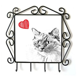 Collection of hangers with images of purebred cats, unique gift, sublimation