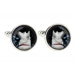 Akita Inu. Cufflinks for dog lovers. Photo jewellery. Men's jewellery. Handmade