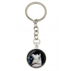 Akita Inu. Keyring, keychain for dog lovers. Photo jewellery. Men's jewellery. Handmade.