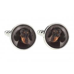 Cufflinks for dog lovers. Photo jewellery. Men's jewellery. Handmade