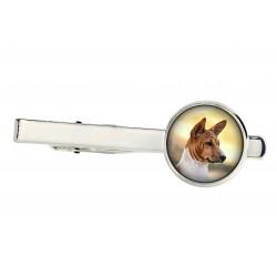 Akita Inu. Tie clip for dog lovers. Photo jewellery. Men's jewellery. Handmade.