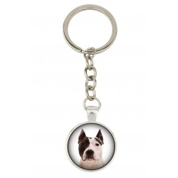 Keyring, keychain for dog lovers. Photo jewellery. Men's jewellery. Handmade.
