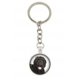 Keyring, keychain for dog lovers. Photo jewellery. Men's jewellery. Handmade.