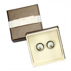 Cufflinks with box for dog lovers. Photo jewellery. Men's jewellery. Handmade