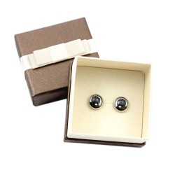 Earrings with exclusive box.