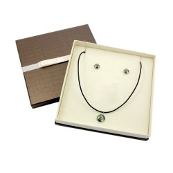 Jewelry with box for people who love dogs. Earrings and necklace. Photojewelry. Handmade.