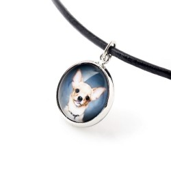 Necklace, pendant for dog lovers. Photo Jewelry. Handmade