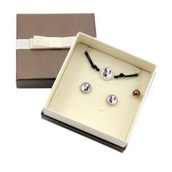 Earrings and bracelet
