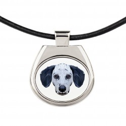A necklace with a dog. A new collection with the geometric dog