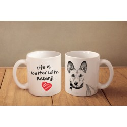 "Mug with a dog and description ""Life is better..."""