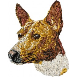 Embroidery, patch with the image of a pedigree dog.