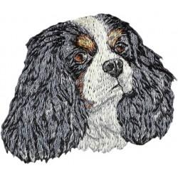 Ricamo con immagine di cane di razza.