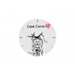 Cane Corso, Italian mastiff - Free standing clock, made of MDF board, with an image of a dog.