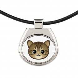 A necklace with cat. A new collection with the cute Art-dog cat