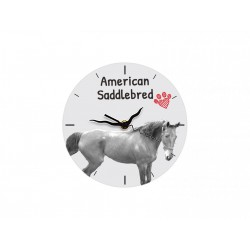 Free standing MDF floor clock with an image of a horse.