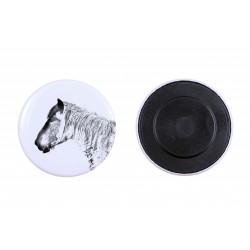 Magnet with horse