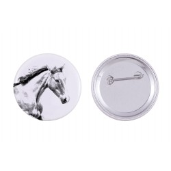 Buttons with a horse