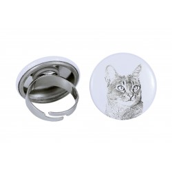 Ring with a cat