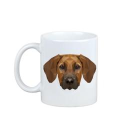 Mug with a geometric dog.