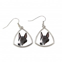 Collection of earrings with images of purebred dogs, unique gift