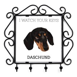 collection of hangers with images of purebred dogs, unique gift, sublimation