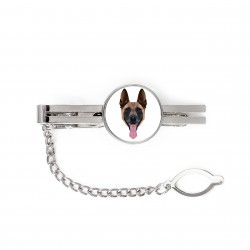 Tie pin with an image of a dog.