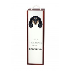 Wine box with an image of a dog.