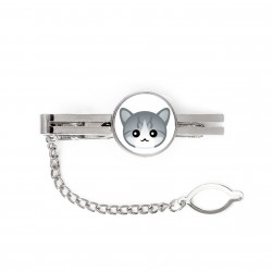 A tie pin with cat. A new collection with the cute Art-dog cat