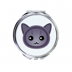 A pocket mirror with cat. A new collection with the cute Art-dog cat