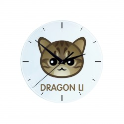 A wall clock with cat. A new collection with the cute Art-dog cat