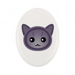 A ceramic plate with cat. A new collection with the cute Art-dog cat