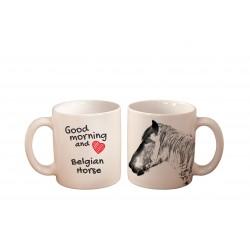 "Mug with a horse. ""Good morning and love ..."". High quality ceramic mug."